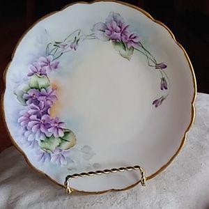 Beautiful Limoges Floral Handpainted plate